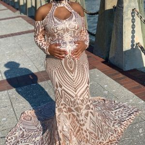 A&N Luxe Label Dresses - Rose Gold Prom Dress
